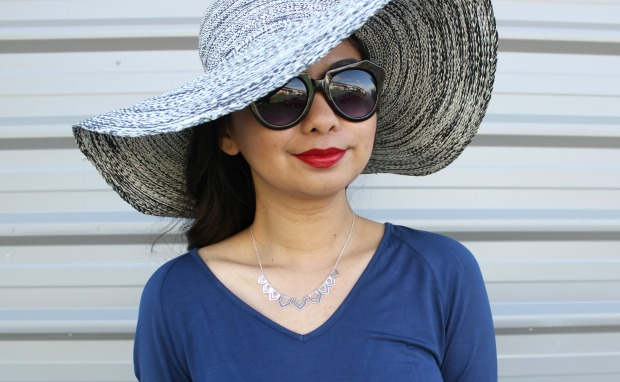 summer ootd outfit hat sunglasses dress