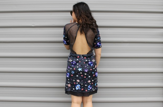 topshop beaded dress back ootd