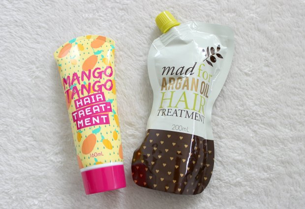 kmart beauty haul mango tango hair treatment argan oil