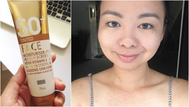 kmart beauty tinted moisturiser sunscreen selfie
