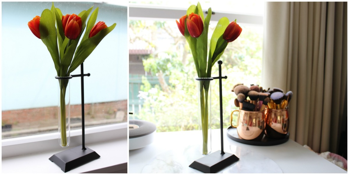 Kmart Home Decor Test Tube Vase Tulips Flowers
