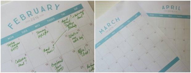 pinterest 2016 calendar printable