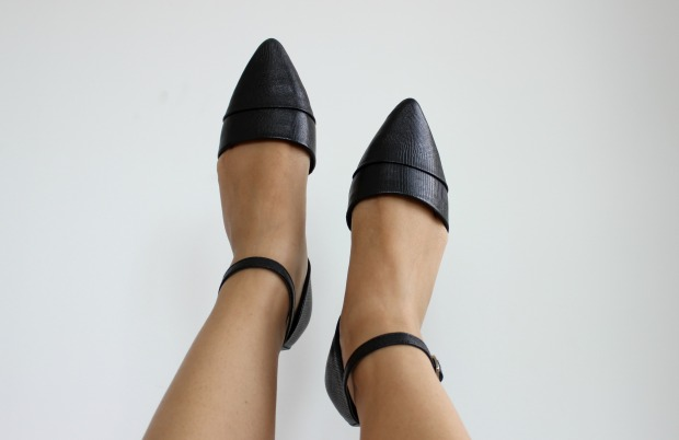 wild pair black pointed sandals shoes footwear