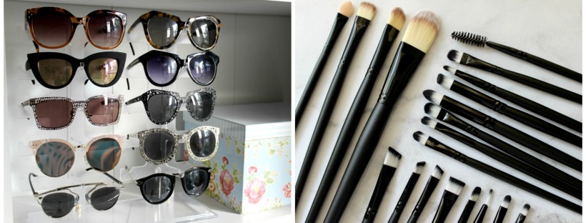 aliexpress haul makeup brushes sunglasses