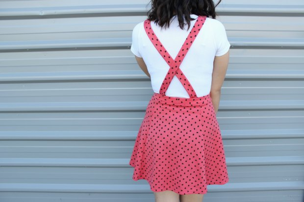 asos hearts pinafore dress outfit