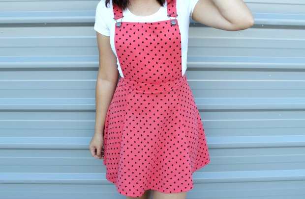 asos hearts pinafore dress