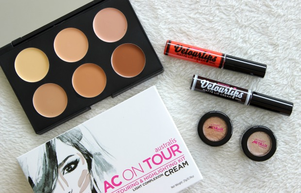 australis cosmetics velourlips metallix ac on tour makeup