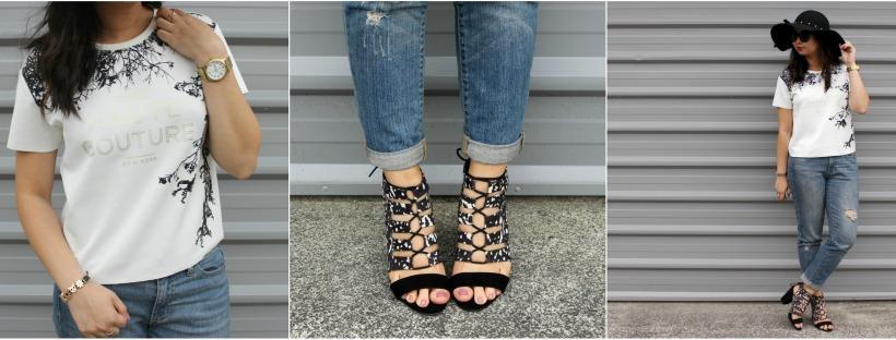 boyfriend jeans ootd outfit heels lookbook