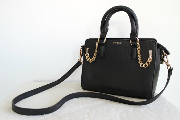 cross body bag topshop haul gold hardware