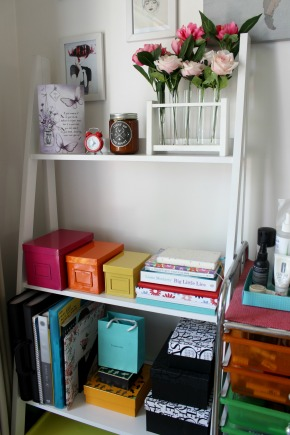 ladder shelf home style room decor