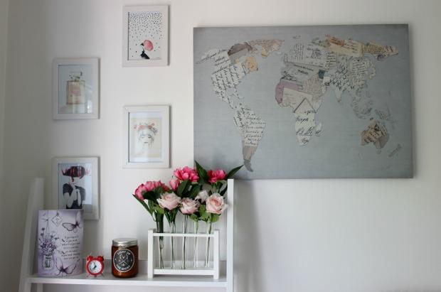 home decor office shelf wall art flowers