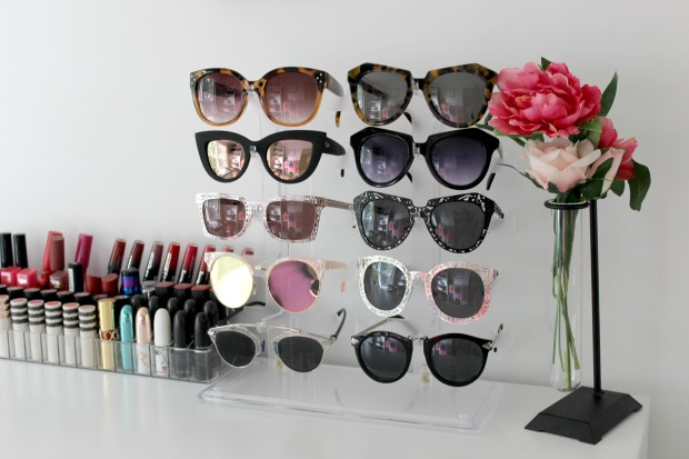 sunglasses display room decor