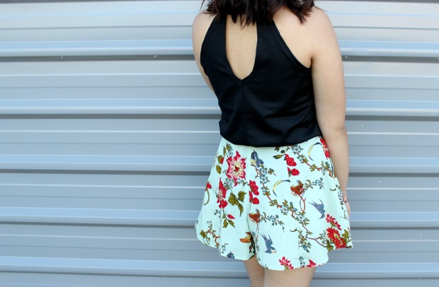 asos floral shorts kmart top summer ootd outfit