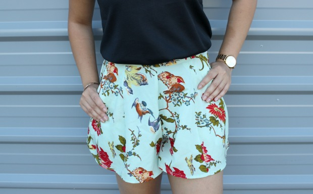 asos floral shorts summer ootd outfit jewellery