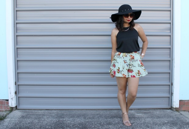 asos floral shorts summer ootd