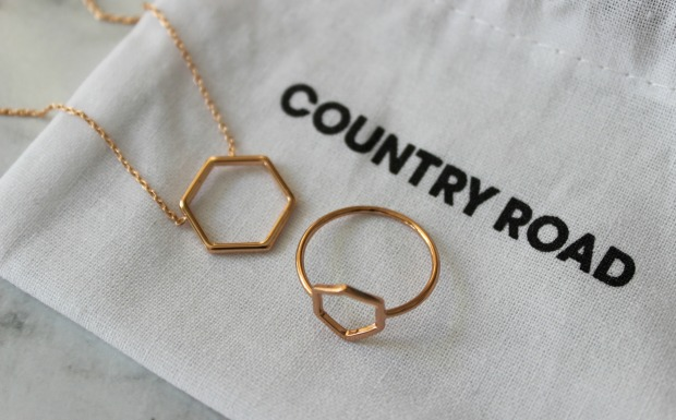 country road jewellery hexagon necklace ring