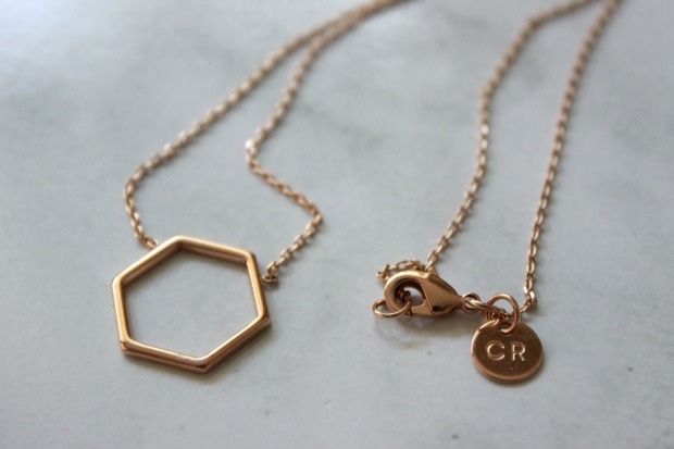 country road jewellery hexagon necklace