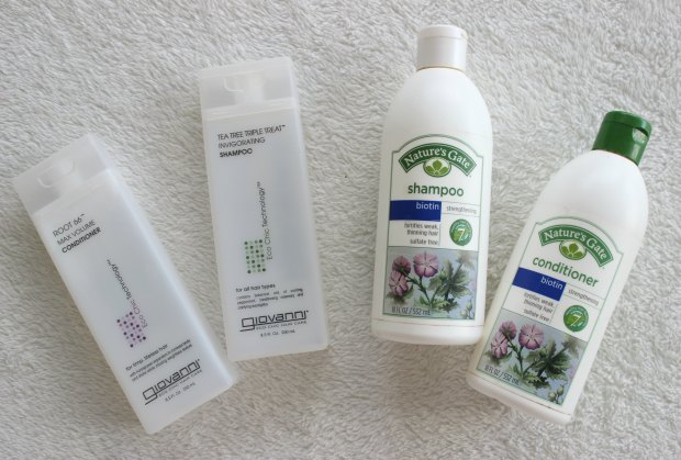haircare shampoo conditioner giovanni nature's gate beauty empties