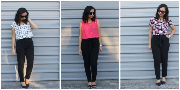 work style ootd outfit high waisted pants lookbook