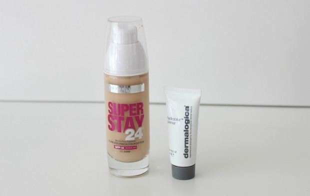 beauty favourites maybelline super stay 24 foundation dermalogica primer
