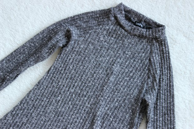 boohoo haul knit dress