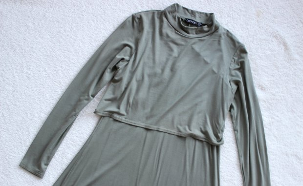 boohoo haul long sleeve dress