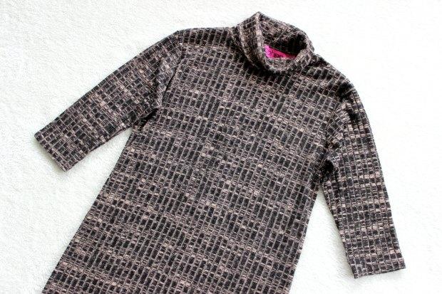 boohoo haul roll neck sweater dress