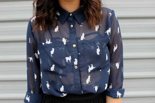 cat shirt outfit ootd cotton on