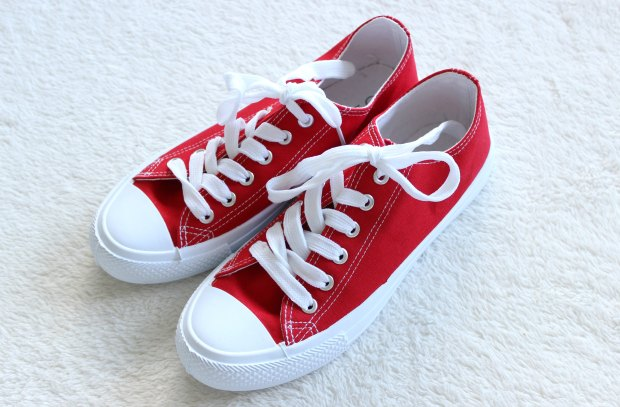kmart haul red sneakers shoes