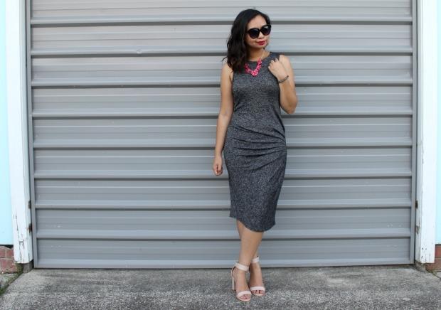 midi dress heels outfit ootd