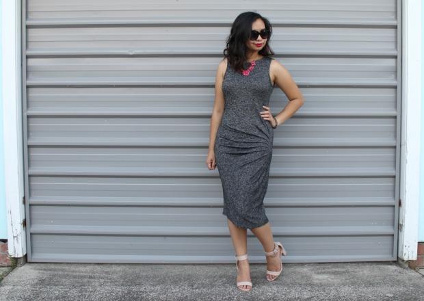 midi dress ootd outfit heels