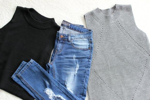 mirrou haul jeans knit sweater