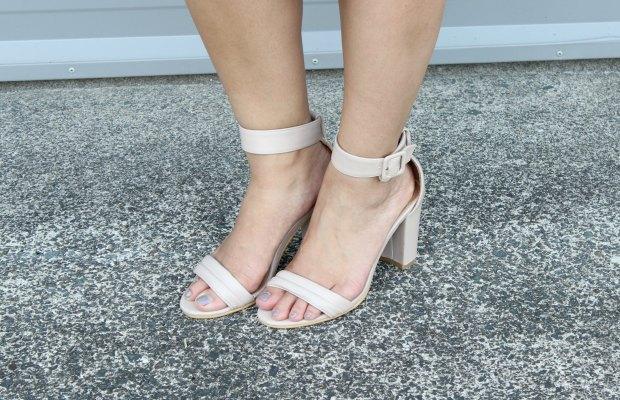 nude heels rubi shoes ootd outfit