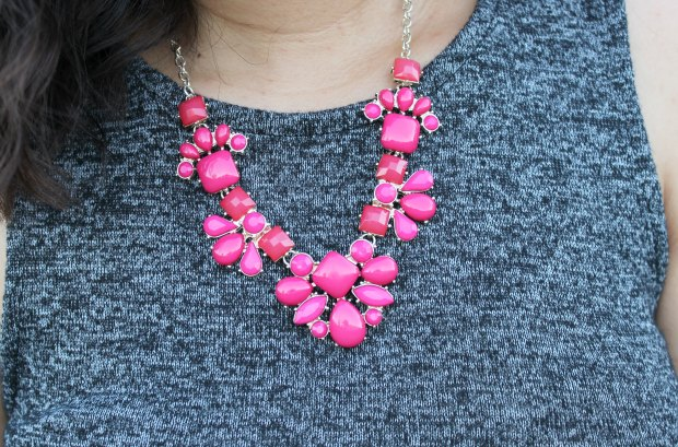 ootd outfit pink necklace jewellery