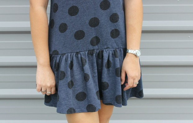 asos polka dots dress watch rings ootd outfit