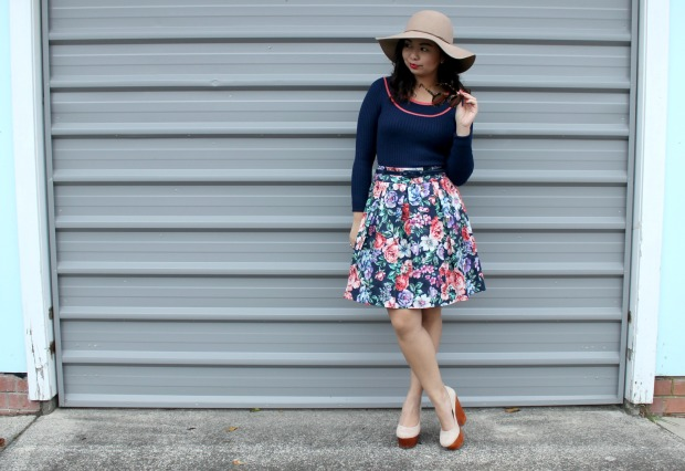 floral skirt review australia ootd