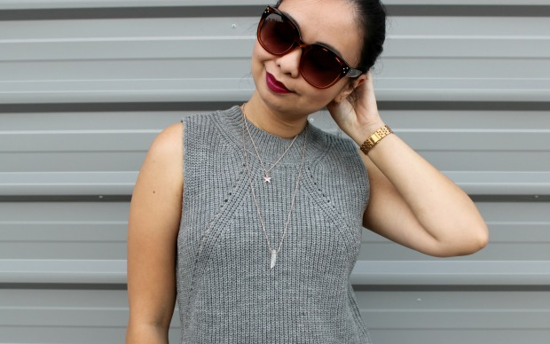 mirrou knit top jewellery ootd