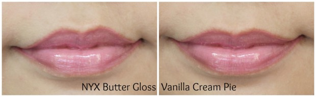 nyx cosmetics butter gloss vanilla cream pie