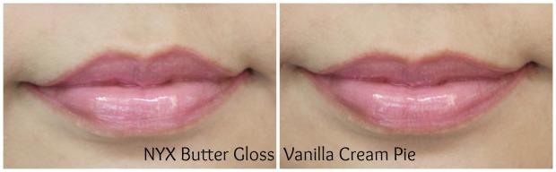 nyx cosmetics butter gloss vanilla cream pie