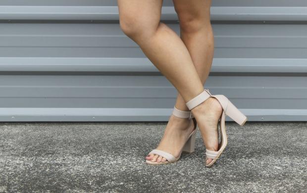 ootn nude heels outfit ootd
