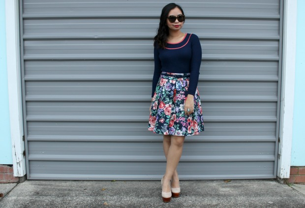 review australia floral skirt ootd outfit