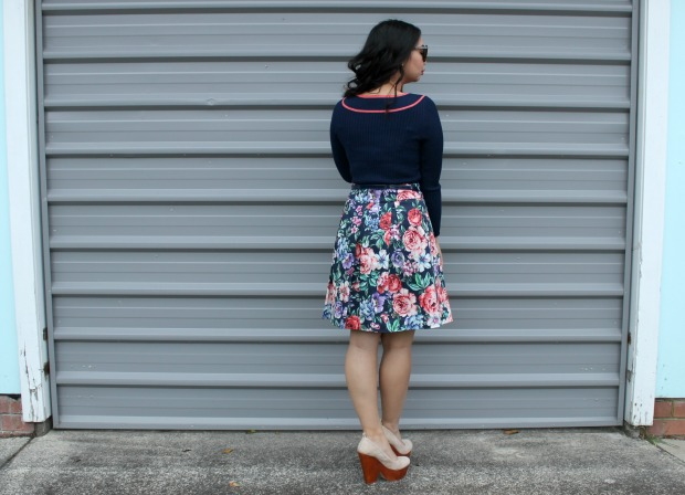 review australia ootd outfit floral