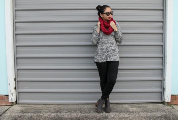 avoca rib loop scarf outfit