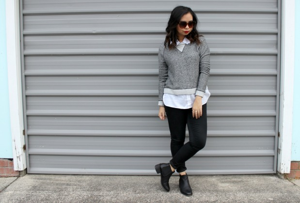decjuba sweater jeans ootd