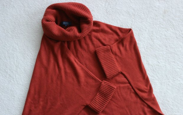 thrift haul knitwear cape