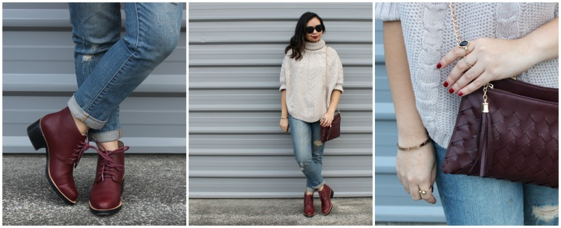 sweater cape ootd outfit