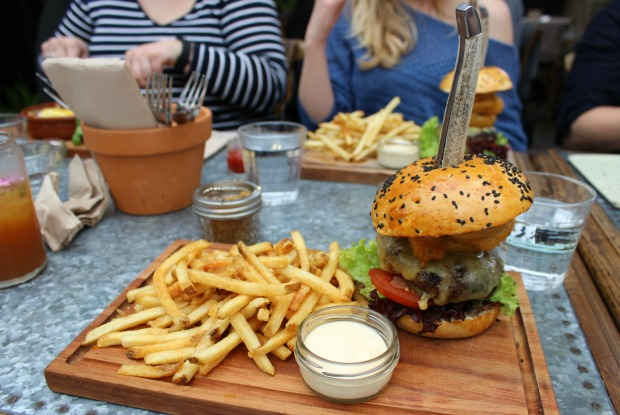 The Garden Shed burger