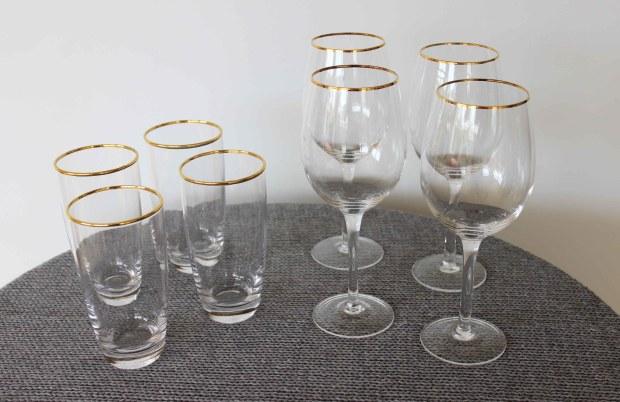 The Warehouse gold trim glasses.jpg