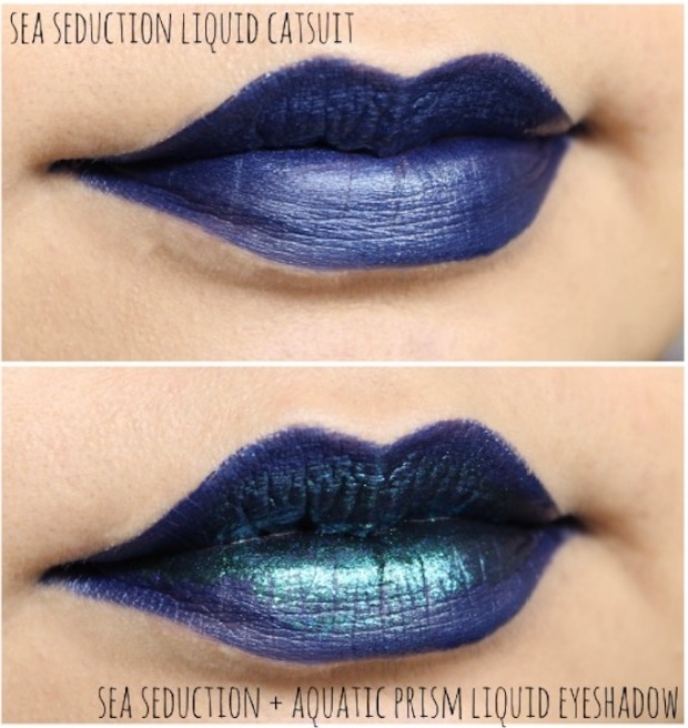 wet n wild metallic liquid catsuit sea seduction