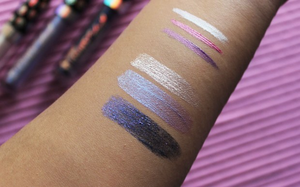 Wet N Wild megalast catsuit liquid eyeshadow swatches